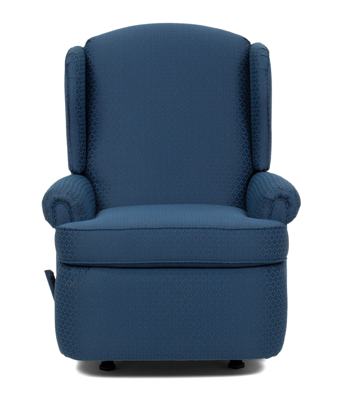 navy rocking chair nordic posture barcalounger florence custom choice rocker recliner