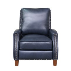 All Leather Recliner Chairs Living Room Accent Barcalounger Melrose Chair Shoreham Blue