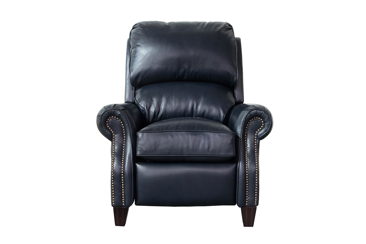 all leather recliner chairs cheap chair covers and sashes barcalounger churchill shoreham blue