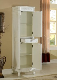 Antique White Linen Cabinet