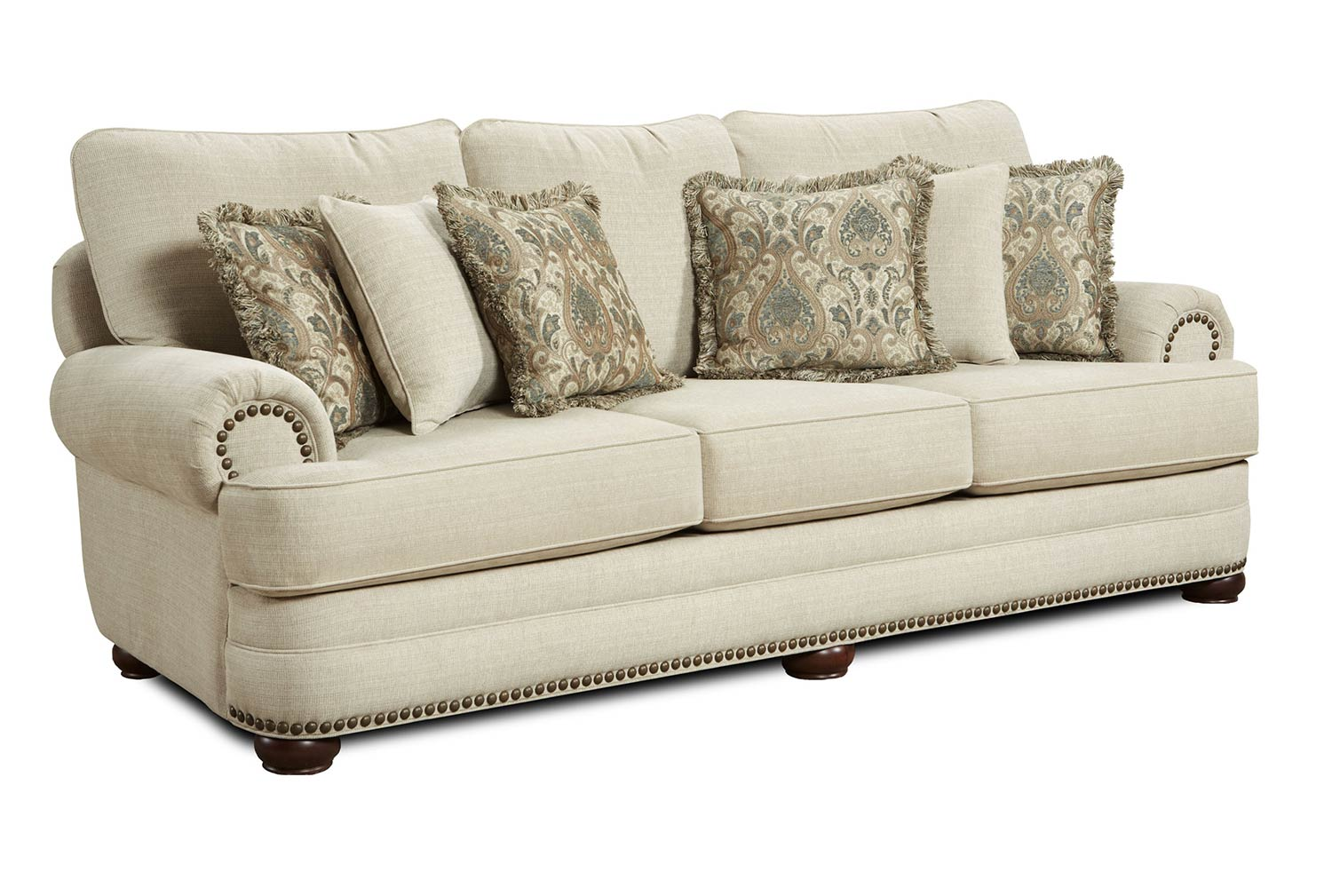 urban home devonshire sofa traditional sofas with skirts chelsea devon set beige chf 632110 nl