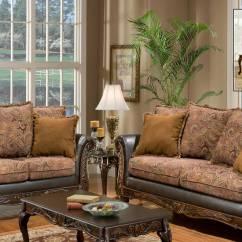 Parker Leather Sofa Reviews Fix Springs In Chelsea Home Arlene Set - Silas Raisin/bi-cast Brown ...