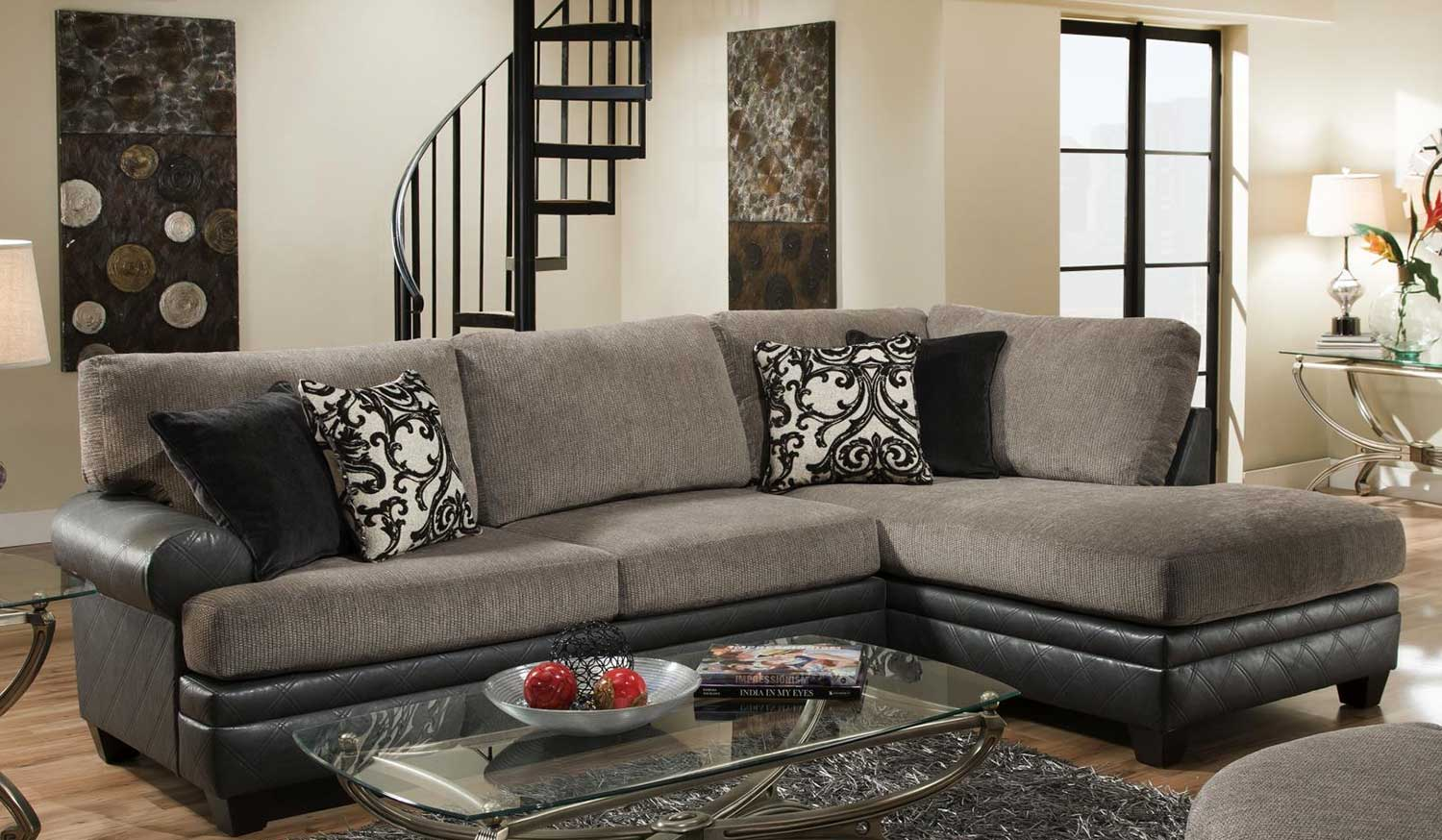 robinson and leather sofa furniture set living room chelsea home sectional square granite chf