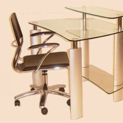 Computer Desk And Chair Set Nursery Rocker Uk Chintaly Imports With Clear Glass Top