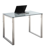 Chintaly Imports 6931 Small Computer Desk Table - Clear ...