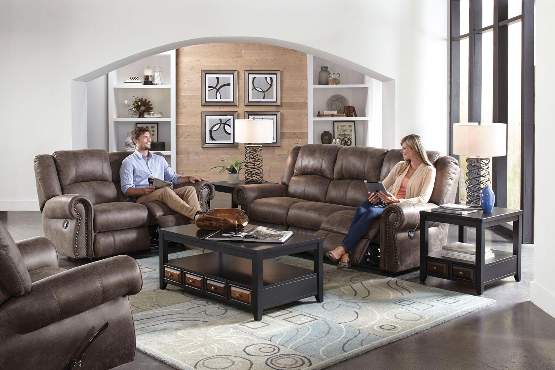 parker leather sofa reviews great bed catnapper westin reclining set - ash cn-1051-sofa-set ...