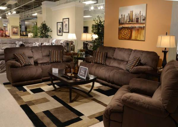 Catnapper Riley Reclining Sofa Set - Coffee Cn-1221-sofa-set-coffee