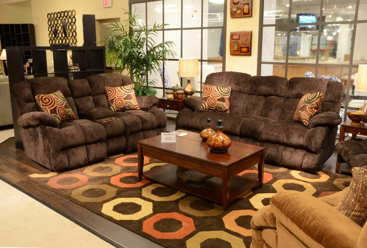 catnapper ranger reclining sectional sofa set recover leather concord lay flat mahogany