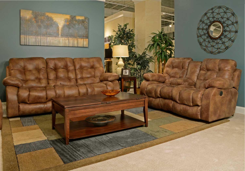 watson sofa table ekornes manhattan catnapper lay flat reclining set almond cn