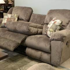 Double Reclining Sofa With Fold Down Table Queen Anne Sofas For Sale Catnapper Transformer Ultimate 3 Recliners And 1