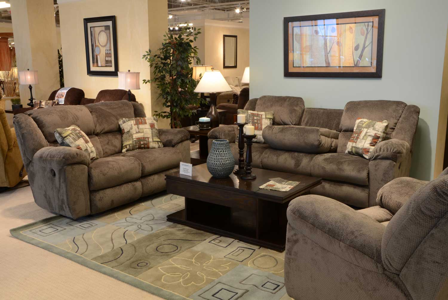 catnapper sofa and loveseat louis xv style transformer ultimate set with 3 recliners