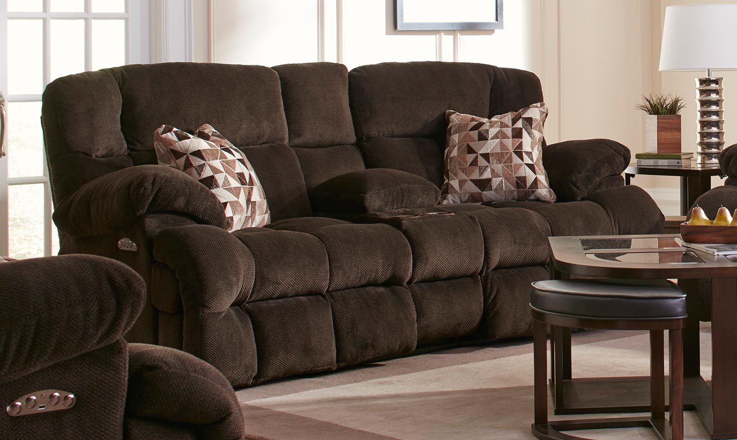 catnapper sofa and loveseat lazy boy mackenzie leather brice power reclining console with ...