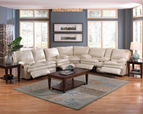 Catnapper Perez Power Reclining Sectional Sofa Set - Ice Cn-64141-perez-sect-set-ice
