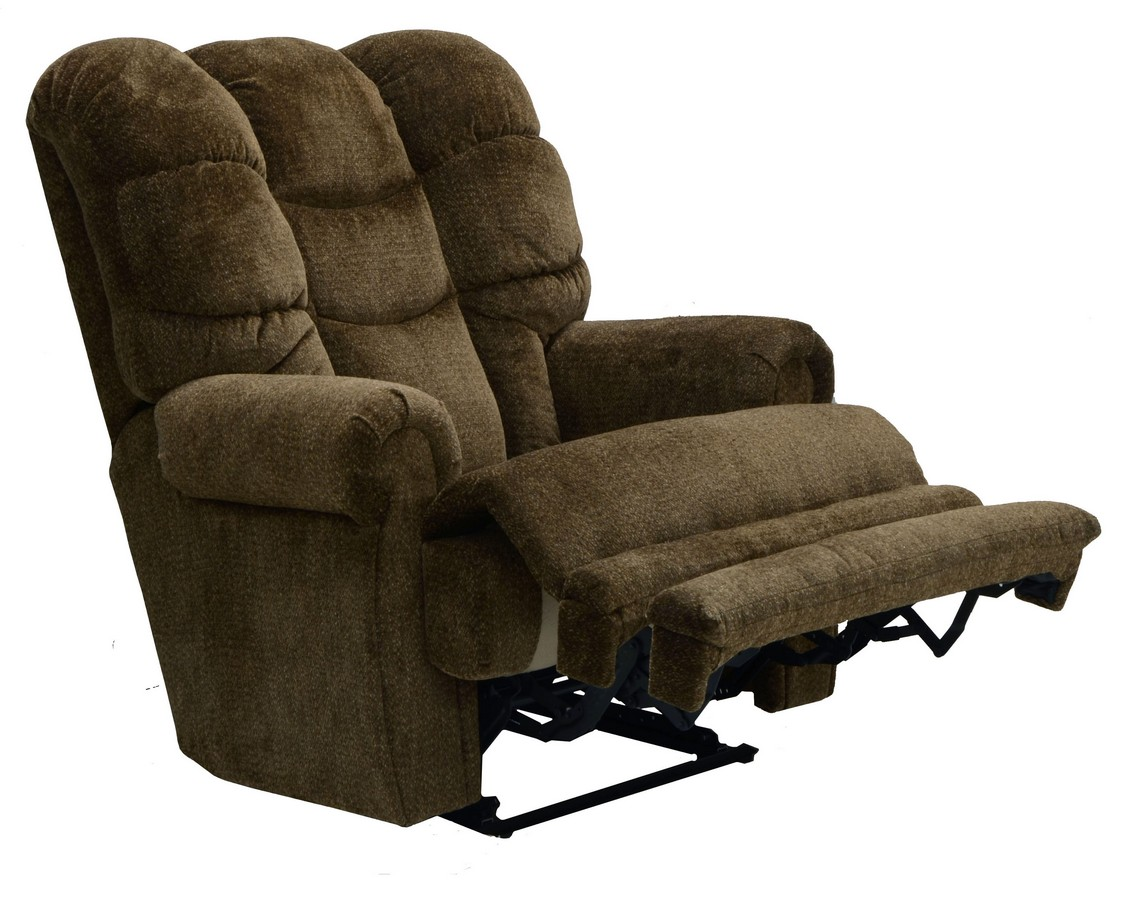 lay flat recliner chairs executive leather office uk catnapper malone with extended ottoman