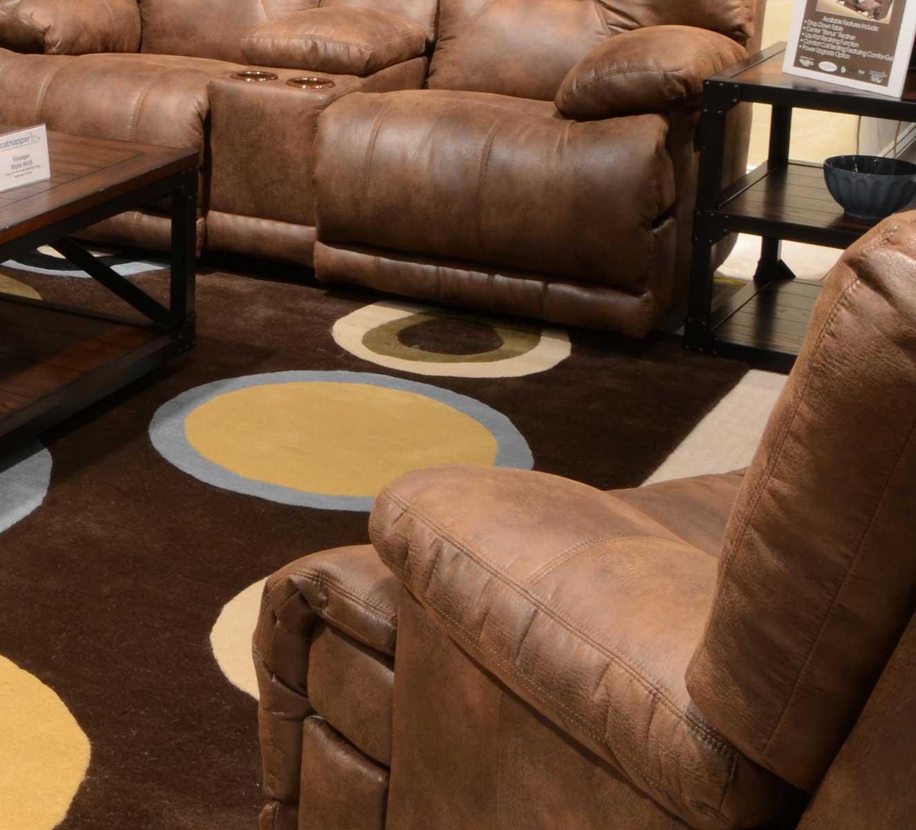 voyager lay flat triple reclining sofa elegant grey fabric futon bed catnapper recliner elk cn 43807 at