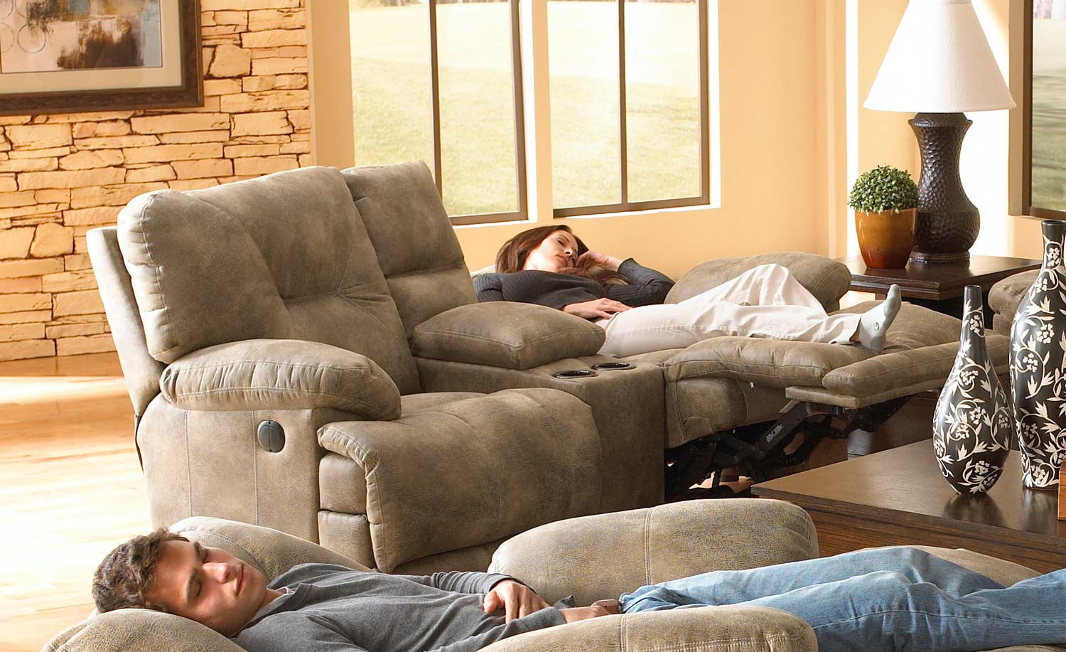 voyager lay flat triple reclining sofa camden  furniture table styles