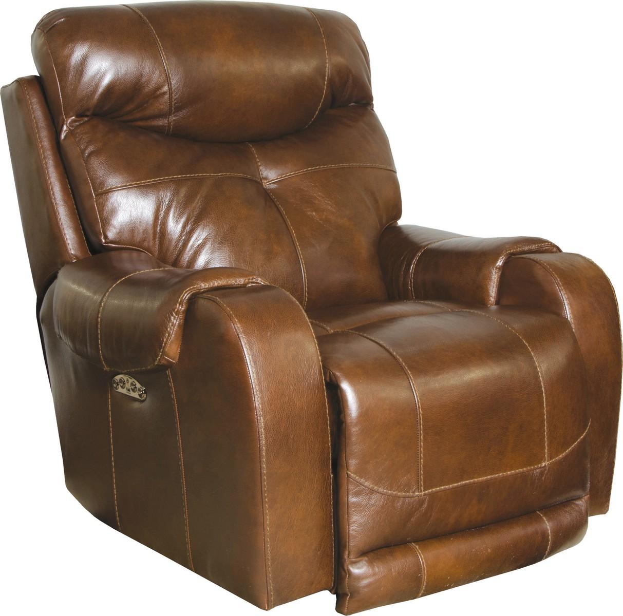 lay flat recliner chairs office chair mats carpet staples catnapper venice top grain leather touch power headrest