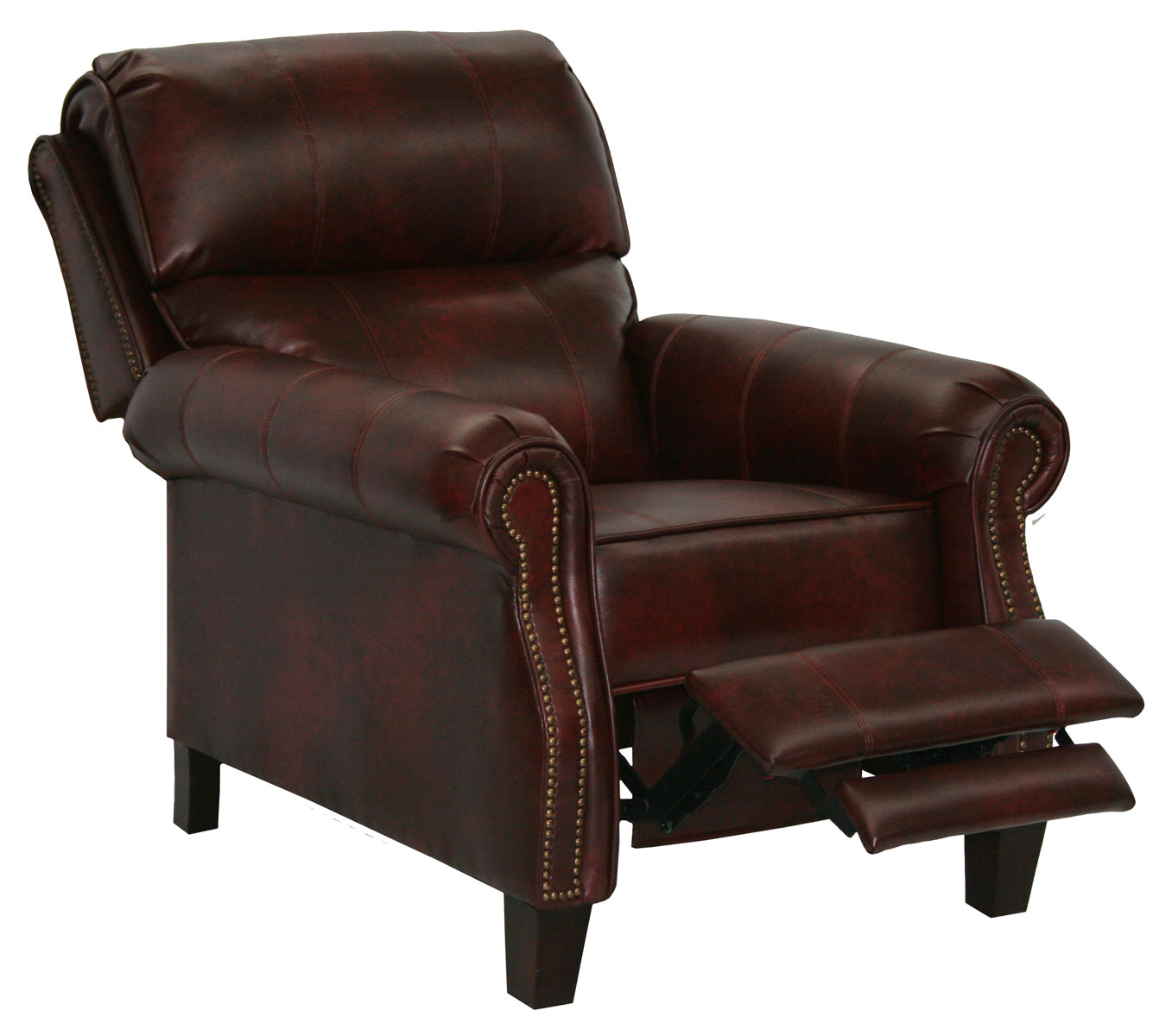 reclining chair with ottoman leather white lounge for bedroom catnapper frazier bonded