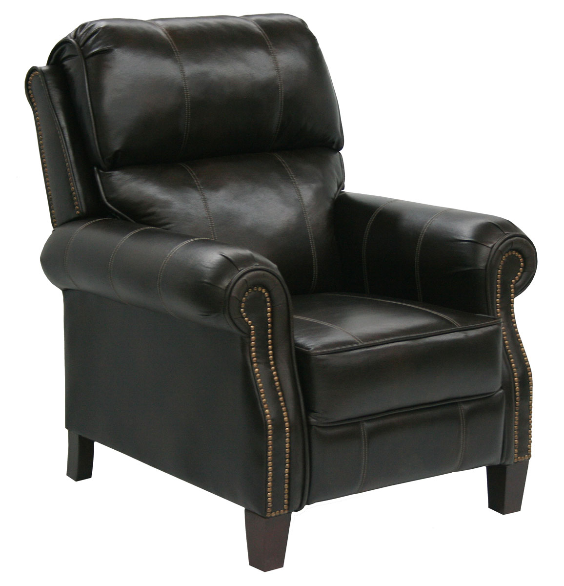 reclining chair with ottoman leather hickory furniture catnapper frazier bonded