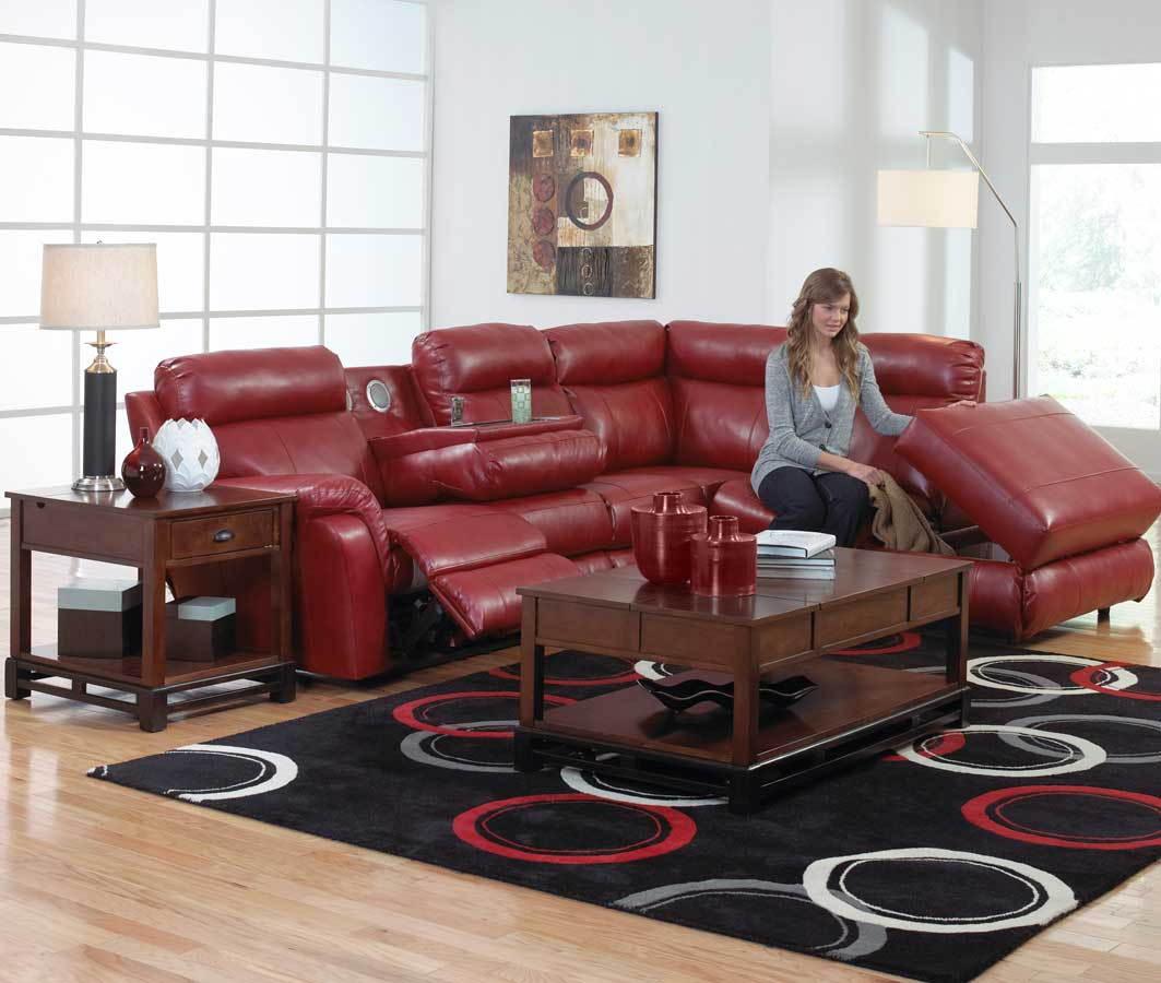 rosso red leather 3 piece sofa set design sofas for you catnapper chastain bonded sectional with storage