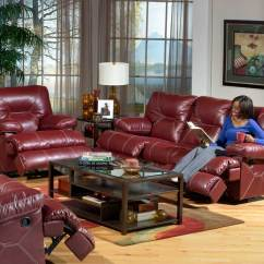 Deacon Leather Power Reclining Sofa Reviews Flexsteel 2017 Catnapper Cortez Set Red Cn At