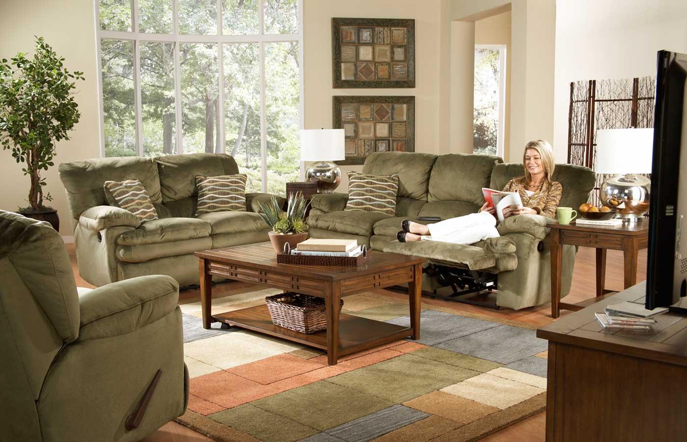 olive green sofa living room ideas bean bags online catnapper easton reclining set sage cn
