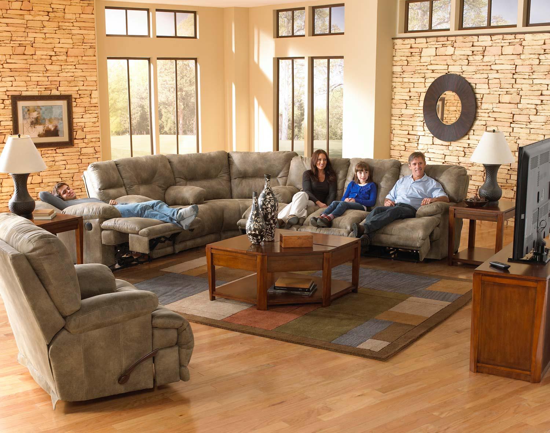 voyager lay flat triple reclining sofa moheda corner bed catnapper sectional set brandy cn