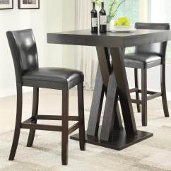 Bar Table Chairs Chair Armrest Covers Coaster 100520 Set Cappuccino