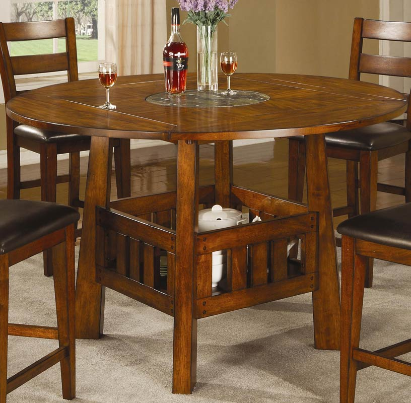 Coaster Lavista Round Square Counter Height Table With
