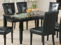 Coaster Anisa Dining Table - Black Marble Top 102791 at ...