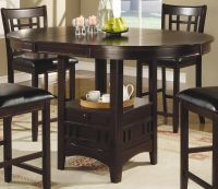Coaster Lavon Round Counter Height Dining Set - Cappucino ...