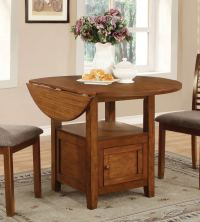 Coaster Stockton Drop Leaf Storage Dining Collection ...