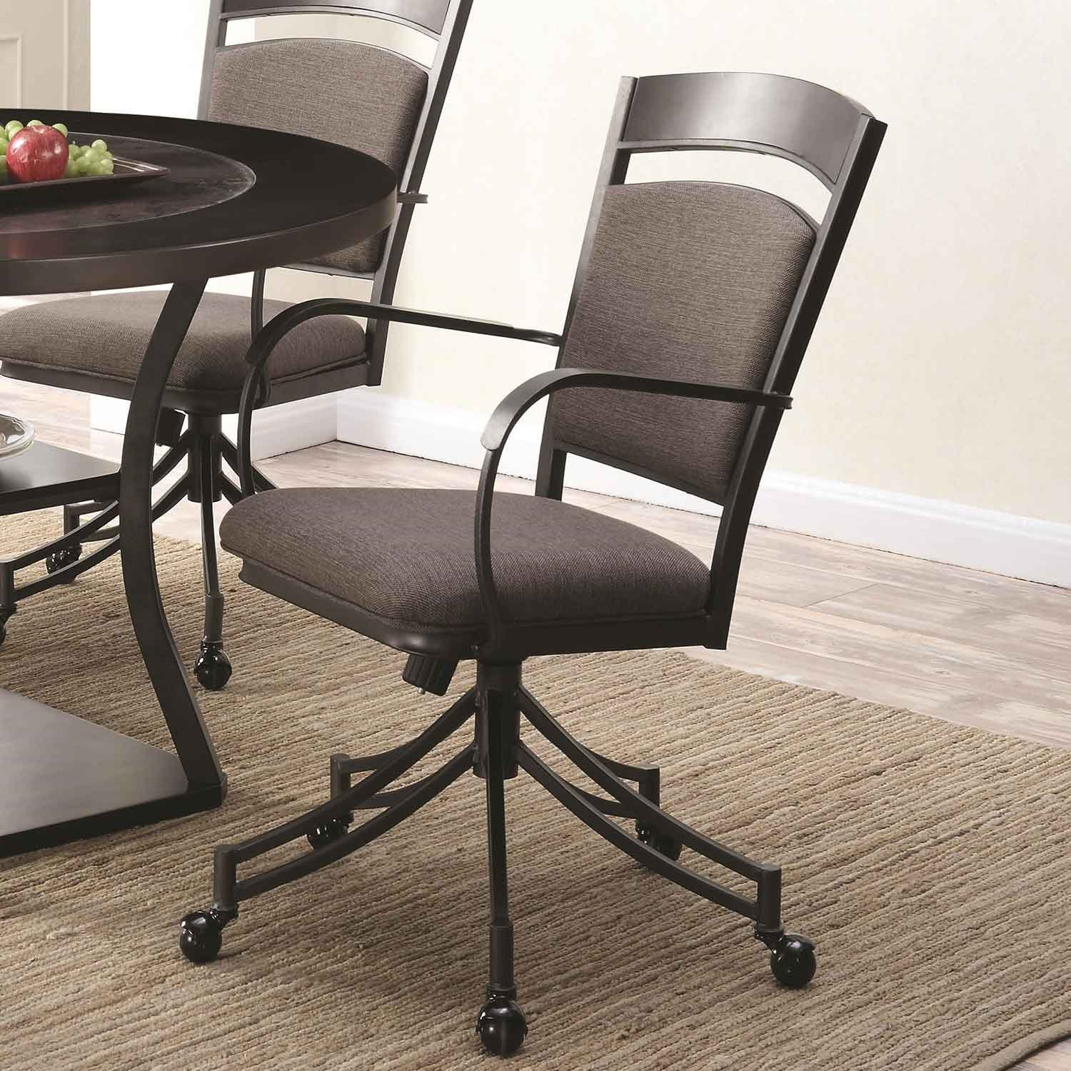 side chairs with casters leather chair ottoman coaster ferdinand dark merlot