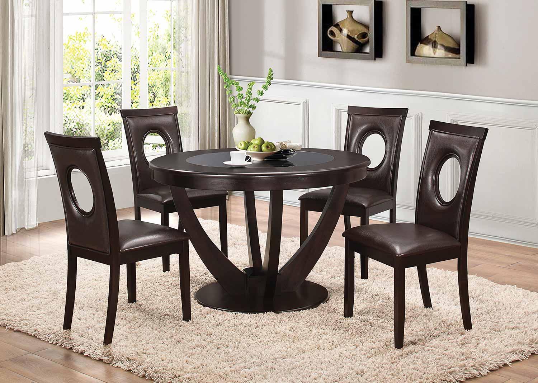 Coaster Stapleton Round Glass Dining Set