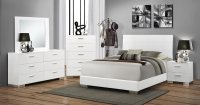 Coaster Felicity Bedroom Set - White 203501-Bed-Set at ...