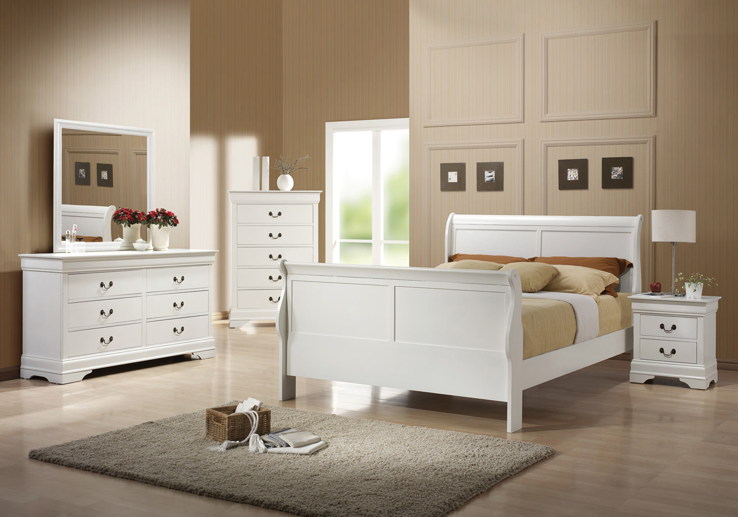 Coaster Louis Philippe Bedroom Collection  White 204691