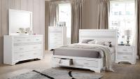 Coaster Miranda Storage Platform Bedroom Set - White ...