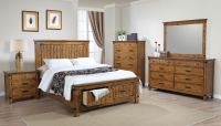Coaster Brenner Platform Storage Bedroom Set - Rustic ...