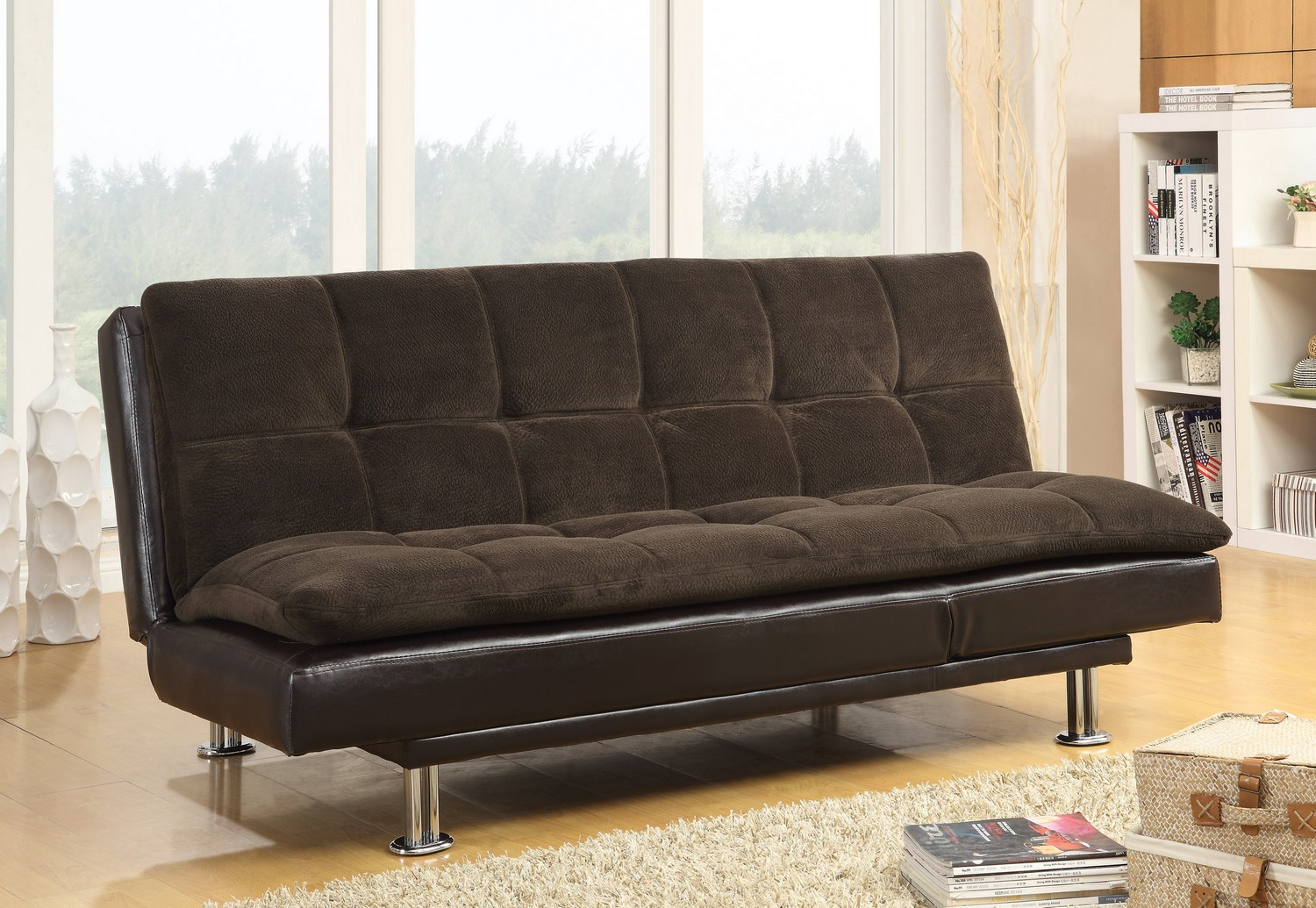 Coaster 300313 Sofa Bed  Twotoned Brown 300313 at Homelementcom