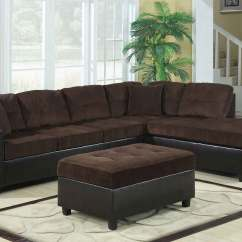 Chocolate Brown Leather Sectional Sofa With 2 Storage Ottomans Pret Canapele Italsofa Coaster Henri Reversible Set