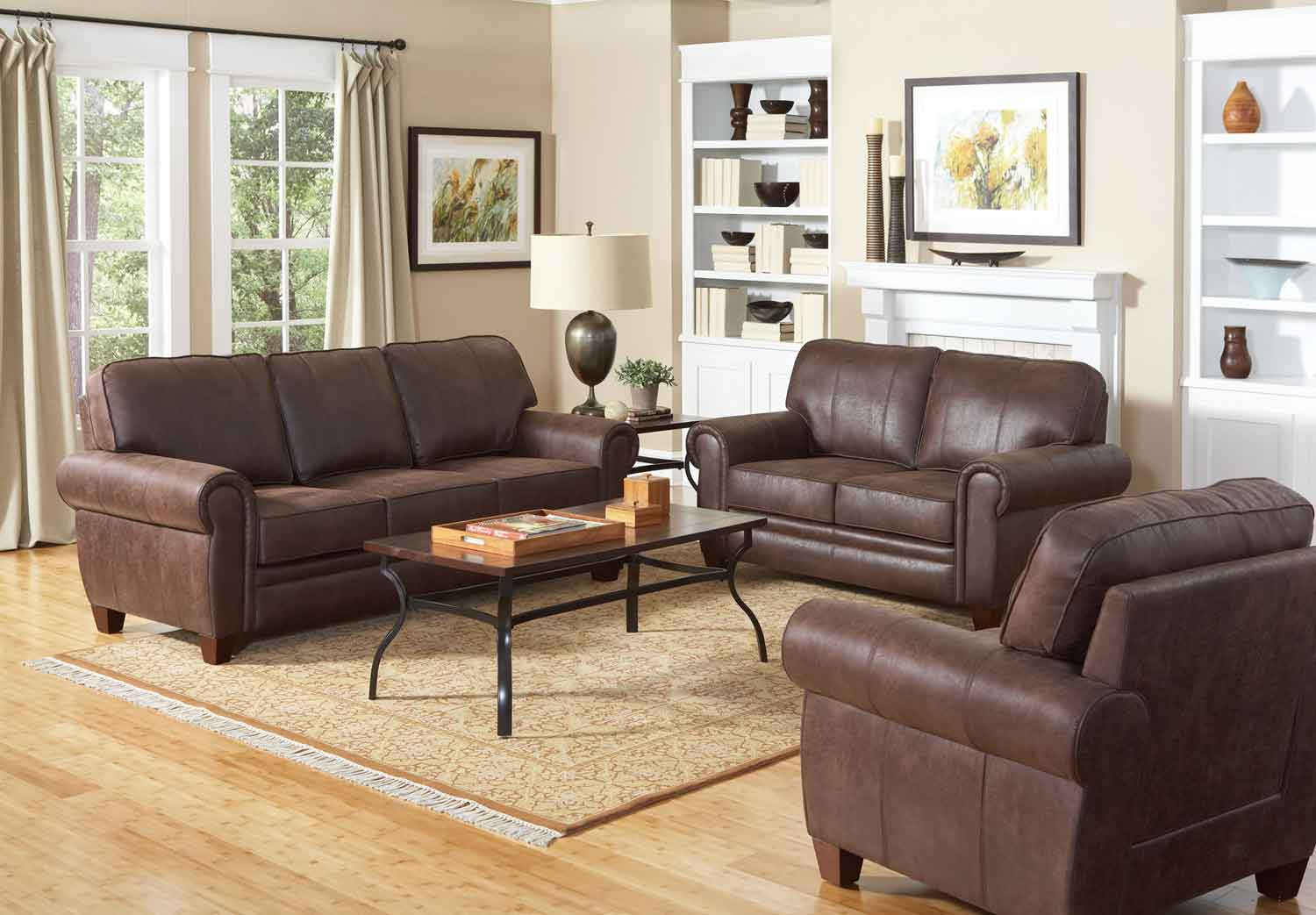 living room chair bedroom uk coaster bentley set brown 504201 livset at