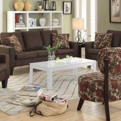 Coaster Bachman Sofa Reviews Restoration Vintage Leather Craftsman Full Grain Sectional Set- Chocolate 504767-sofa-set At ...