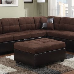 Microfiber Club Chair With Ottoman White Bonded Leather Office Coaster Mallory Sectional Sofa Set Chocolate 50565