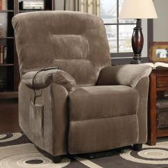 Power Lift Chair Dorothy Draper Chairs Coaster 601025 Recliner Brown At