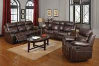 Coaster Myleene Motion Living Room Set - Chestnut 603021 ...