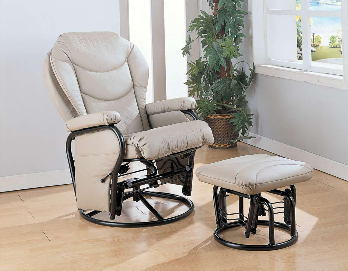 glider chair with ottoman india recliner chairs for kids coaster 7040 rocker at homelement