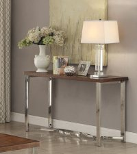 Chrome Sofa Table Coaster Custer Chrome Sofa Table With ...