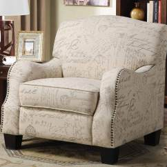 Print Accent Chair Ivory Ruffled Covers Coaster 900560 Cream With Grey