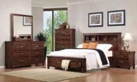 Coaster Noble Bookcase Platform Storage Bedroom Set