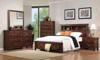 Coaster Noble Bookcase Platform Storage Bedroom Set ...